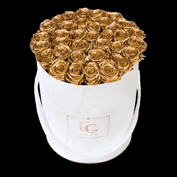 Classic Infinity Rosebox | Gold | L