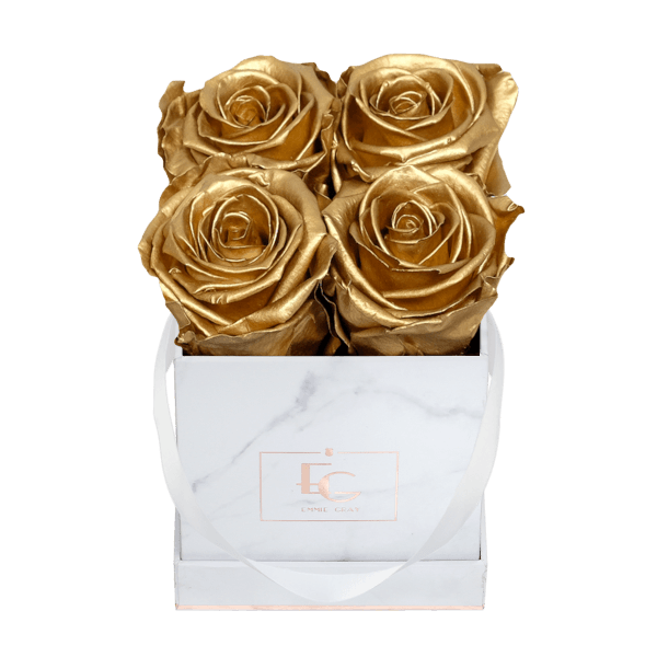 Classic Infinity Rosebox | Gold | XS