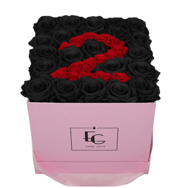 NUMBER INFINITY ROSEBOX | BLACK BEAUTY & VIBRANT RED | M