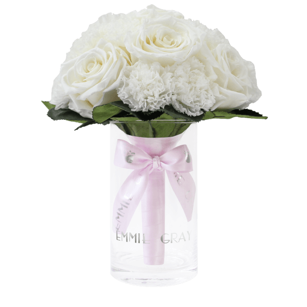Romantic Infinity Bouquet | Pure White | S