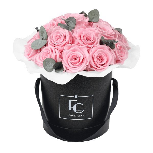 Splendid Eucalyptus Infinity Rosebox   Bridal Pink   M