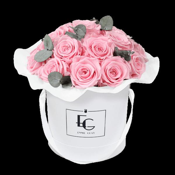 Splendid Eucalyptus Infinity Rosebox | Bridal Pink | M