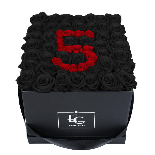 NUMBER INFINITY ROSEBOX | BLACK BEAUTY & VIBRANT RED | L