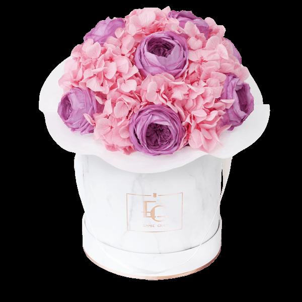 Splendid Peony Mix Infinity Rosebox | Baby Lilly & Bridal Pink | S