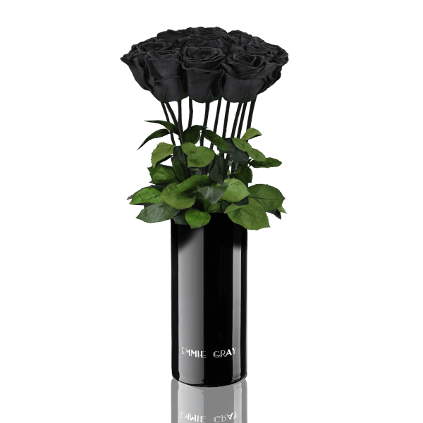 Classic Vase Set | Black Beauty | 10 ROSES