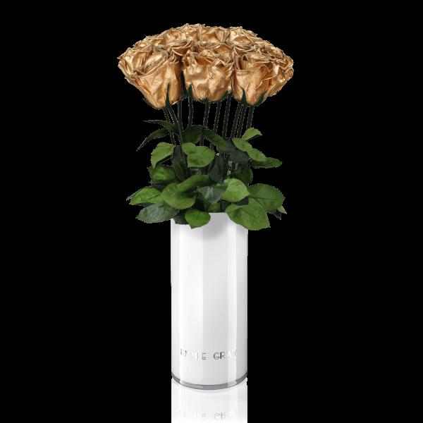 Classic Vase Set | Gold | 10 ROSES