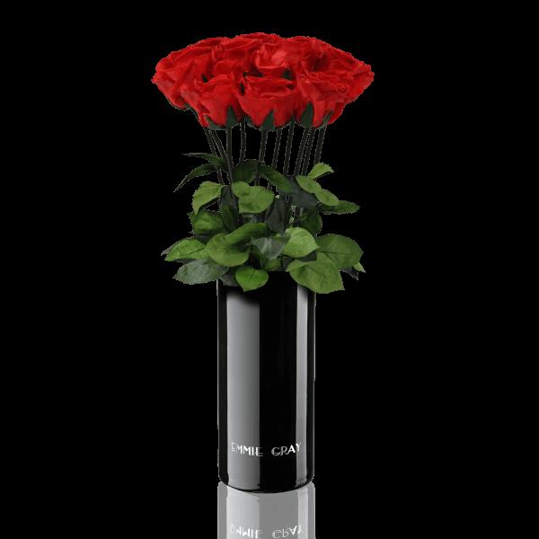 Classic Vase Set   Vibrant Red   10 ROSES