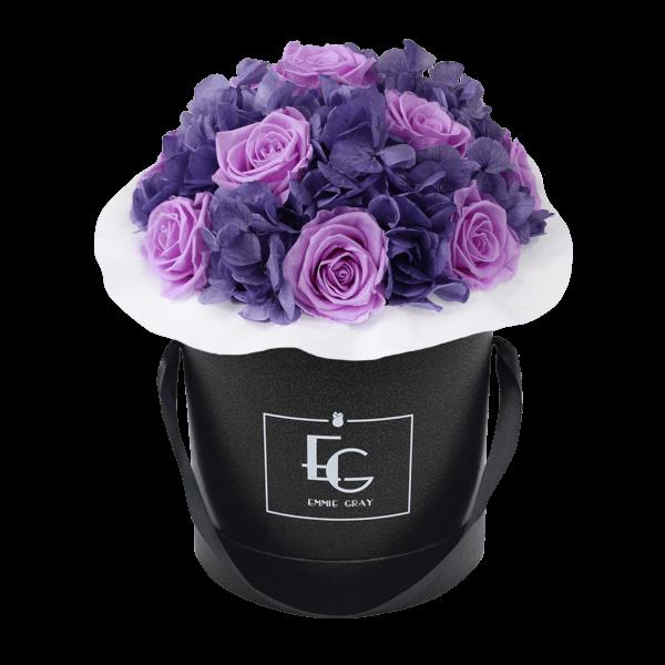Splendid Hydrangea Mix Infinity Rosebox | Baby Lilli & Violet Vain | M