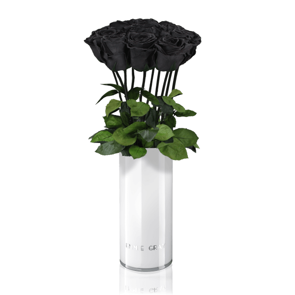 Classic Vase Set | Black Beauty | 10 ROSES