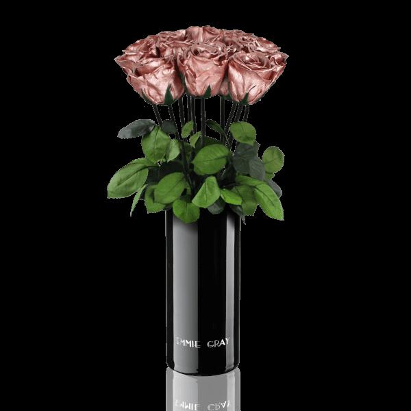 Classic Vase Set   Rose Gold   10 ROSES