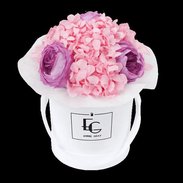 Splendid Peony Mix Infinity Rosebox   Baby Lilli & Bridal Pink   XS