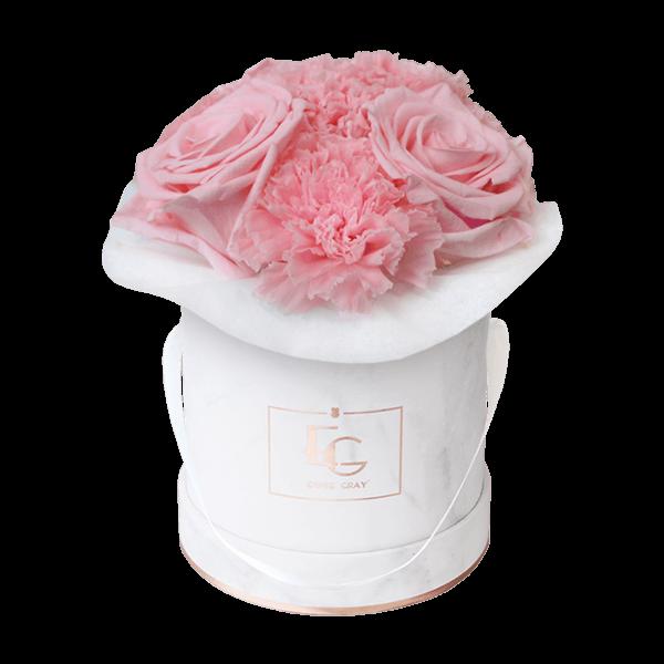 Splendid Carnation Infinity Rosebox | Bridal Pink | XS