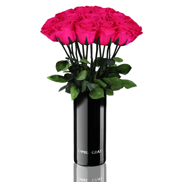 Classic Vase Set | Hot Pink | 15 ROSES