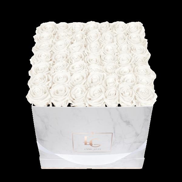 Classic Infinity Rosebox | Pure White | L