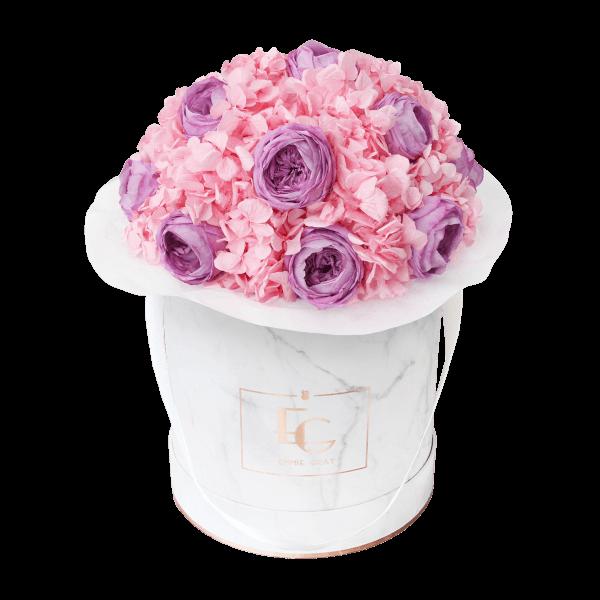 Splendid Peony Mix Infinity Rosebox   Baby Lilli & Bridal Pink   M