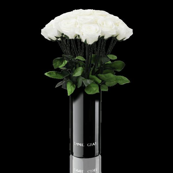Classic Vase Set | Pure White | 15 ROSES