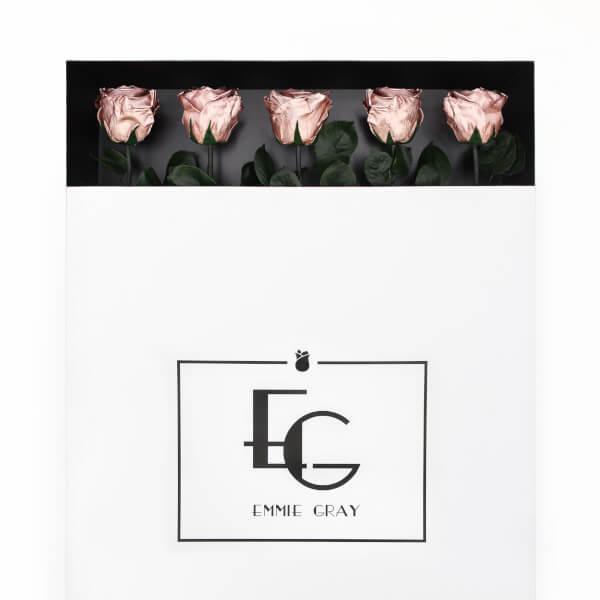 Long Stem Infinity Rose | Rose Gold | 5 Roses