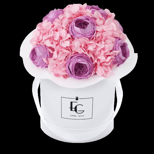 Splendid Peony Mix Infinity Rosebox | Baby Lilli & Bridal Pink | S