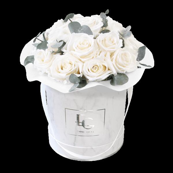 Splendid Eucalyptus Infinity Rosebox | Pure White | M