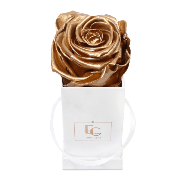 Classic Infinity Rosebox | Gold | XXS