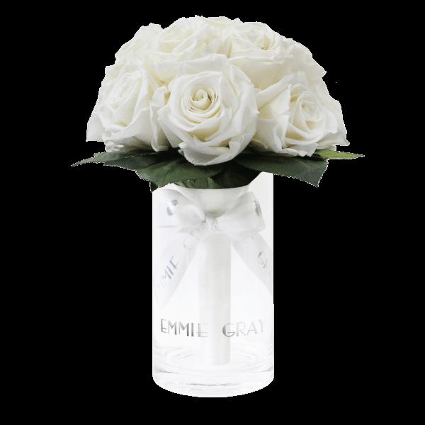 Romantic Infinity Bouquet   Pure White   S