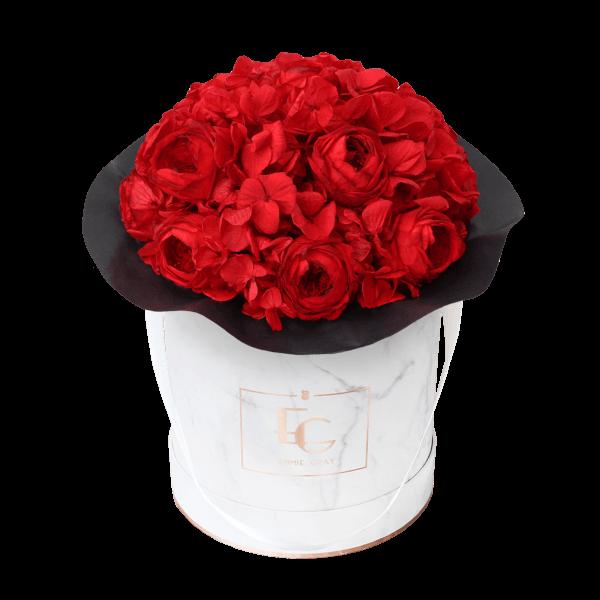 Splendid Peony Mix Infinity Rosebox | Vibrant Red | M