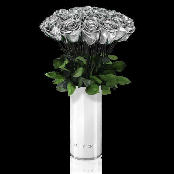 Classic Vase Set | Silver | 15 ROSES