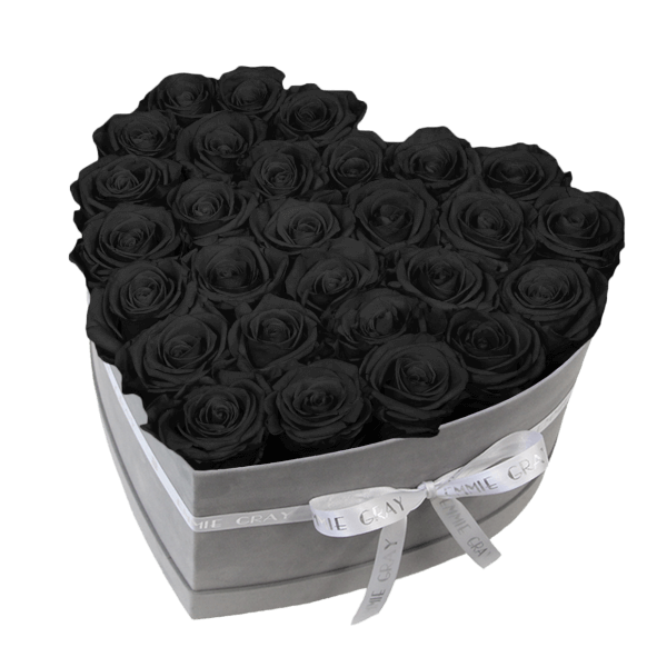 Classic Infinity Rosebox | Black Beauty | L