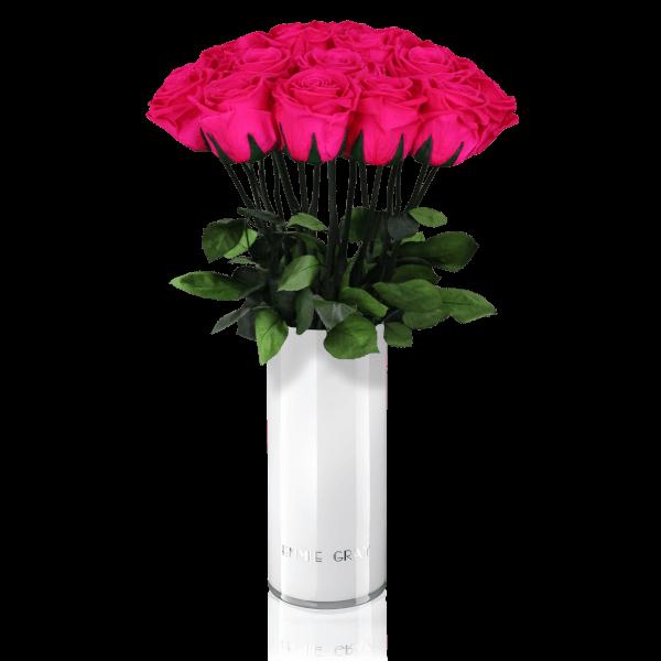 Classic Vase Set | Hot Pink | 15 ROSES