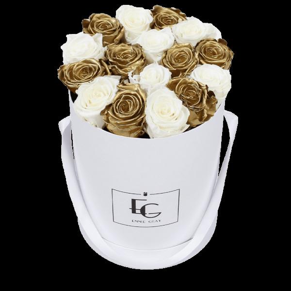 Mix Infinity Rosebox | Gold & Pure White | M