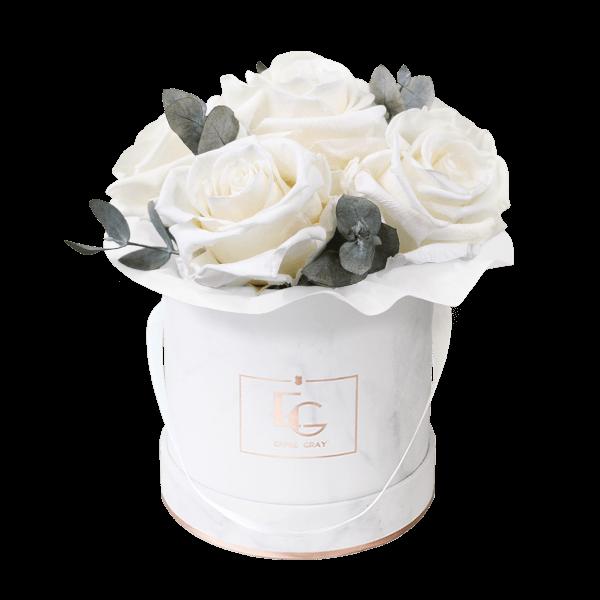 Splendid Eucalyptus Infinity Rosebox | Pure White | XS