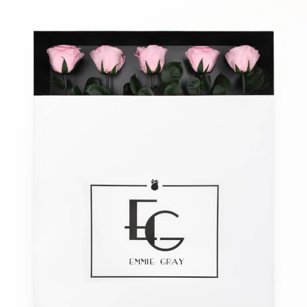 Long Stem Infinity Rose   Bridal Pink   5 Roses