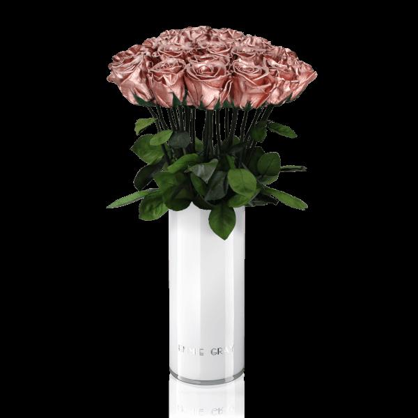 Classic Vase Set | Rose Gold | 15 ROSES