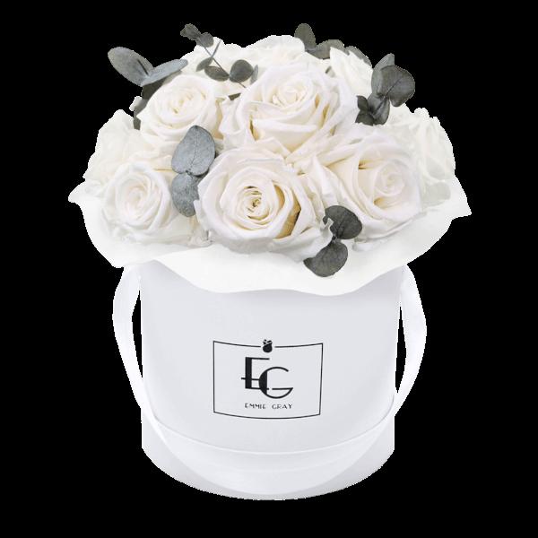 Splendid Eucalyptus Infinity Rosebox | Pure White | S