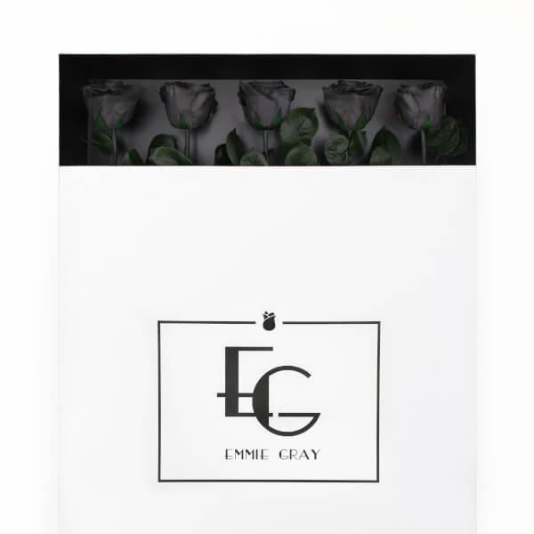 Long Stem Infinity Rose | Black Beauty | 5 Roses