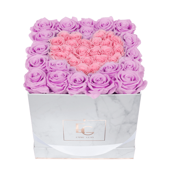 Heart Symbol Infinity Rosebox | Baby Lilli & Bridal Pink | M