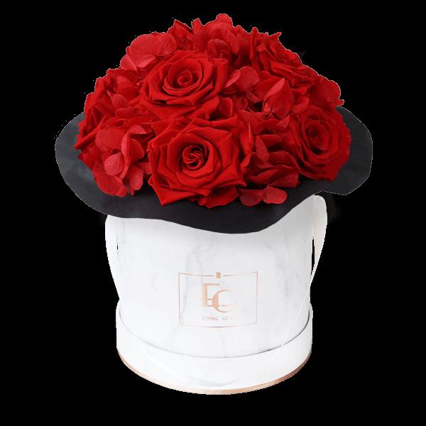 Splendid Hydrangea Infinity Rosebox | Vibrant Red | S