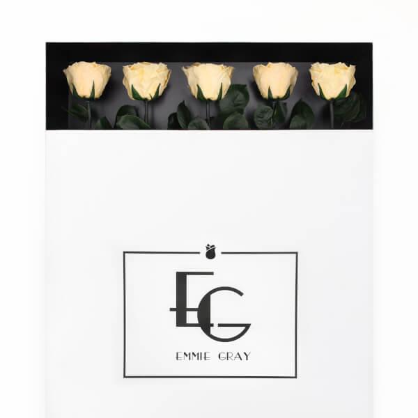 Long Stem Infinity Rose | Champagne | 5 Roses