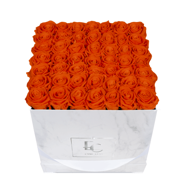 Classic Infinity Rosebox | Orange Flame | L